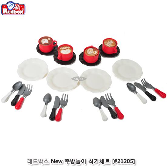 [더산아이]레드박스 New 주방놀이 식기세트 (#21205)