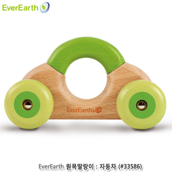 [더산아이]에버어쓰(EverEarth) 원목딸랑이:자동차 (#33586)